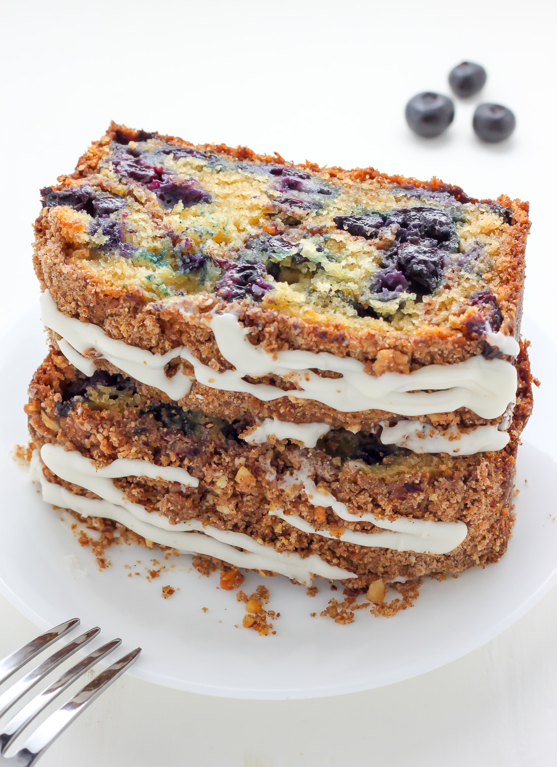 Low Carb Blueberry Cream Cheese Coffee Cake