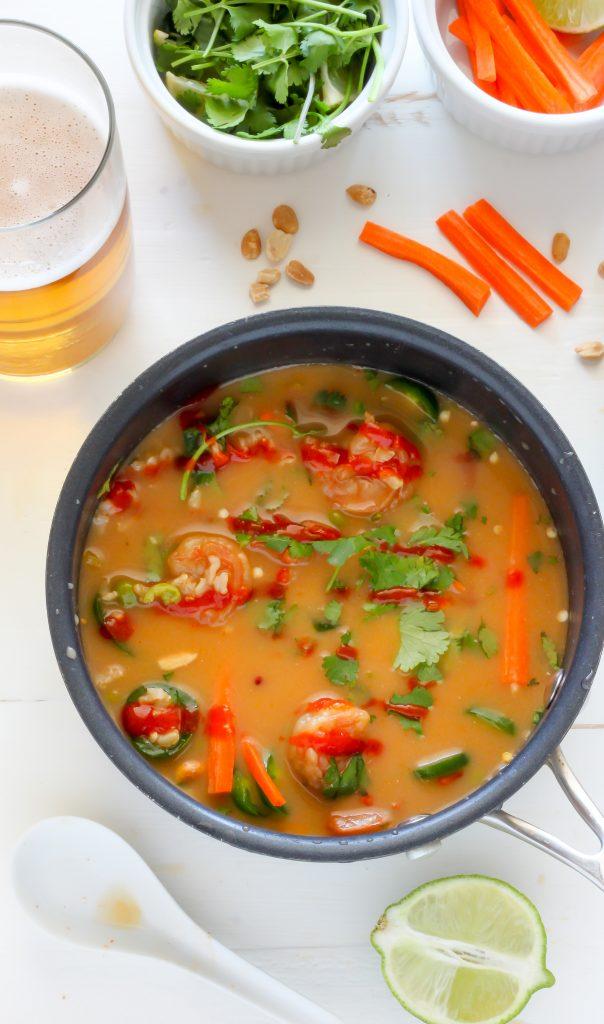 Thai Coconut Shrimp Soup - Baker by Nature