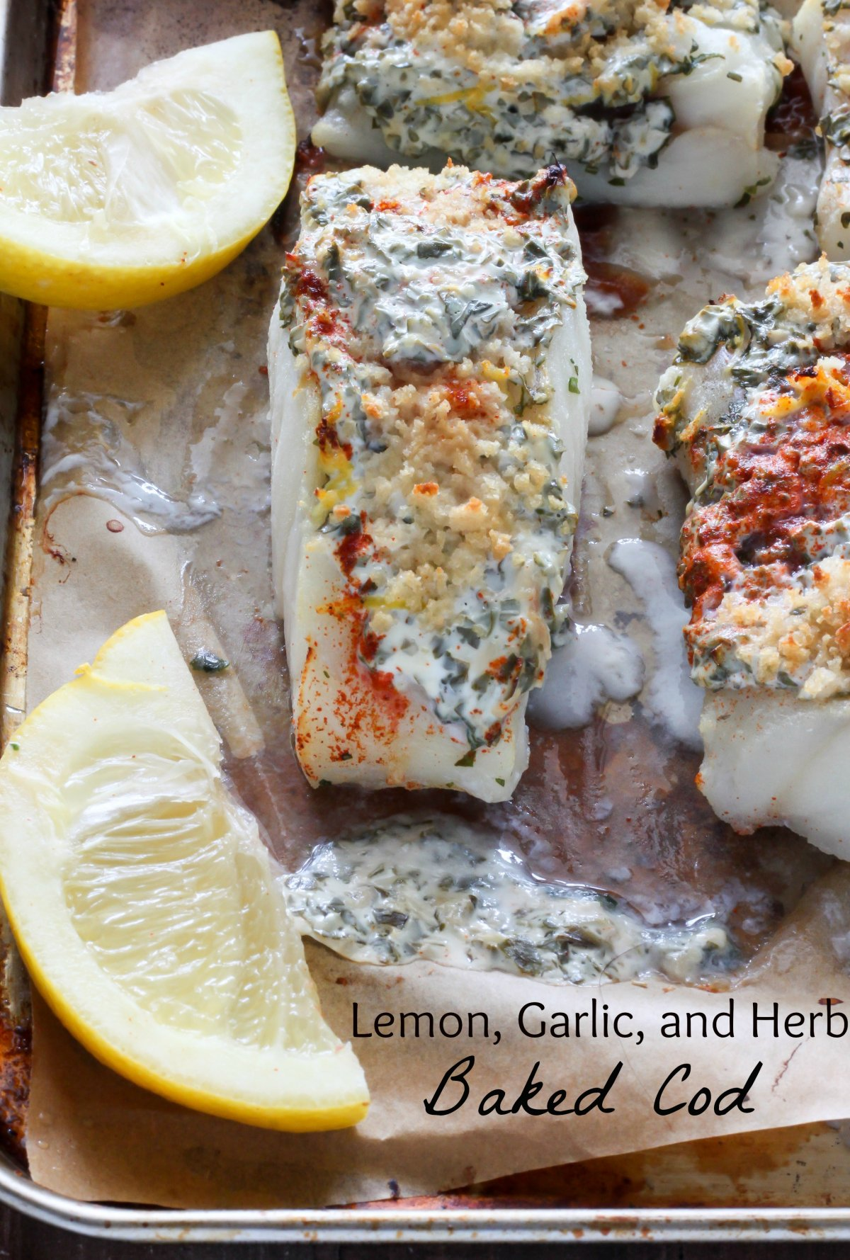 20-Minute Lemon, Garlic, and Herb Baked Cod