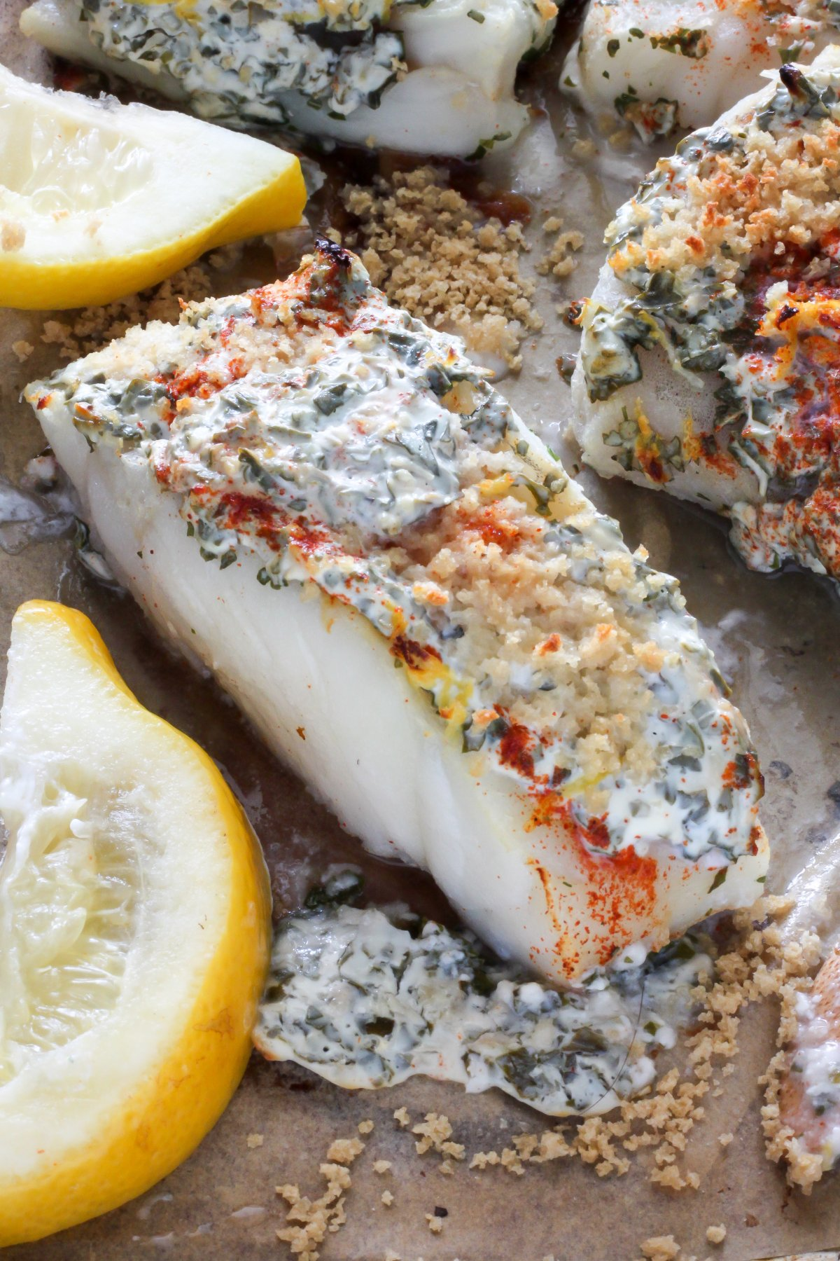 baked lemon herb cod recipe cod lemon herb cod fish is one of my ...