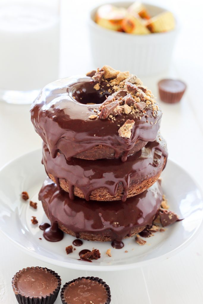 Double Chocolate Peanut Butter Cup Donuts