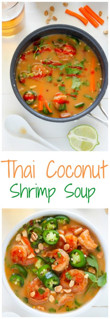 Thai Coconut Shrimp Soup - Baker by Nature