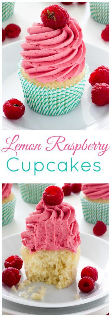 Lemon Cupcakes with Raspberry Buttercream