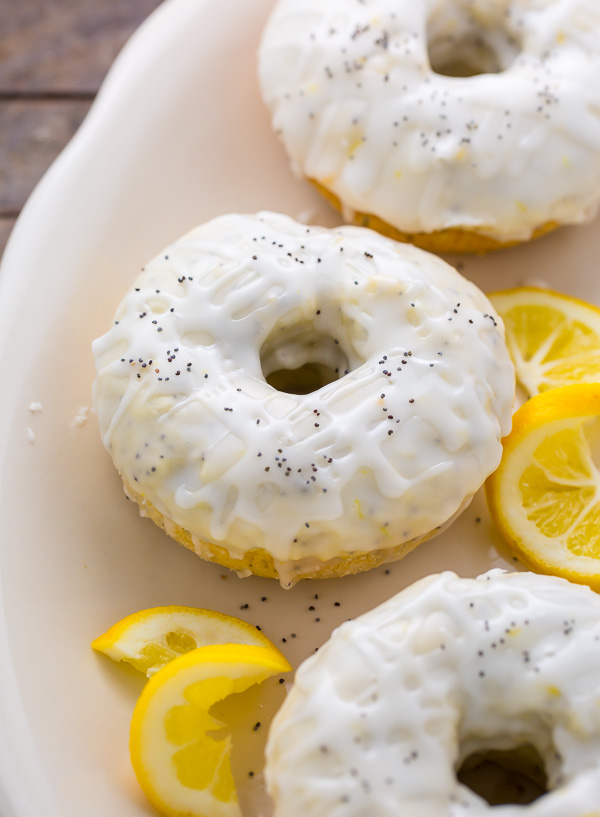 Homemade Lemon Poppy Seed Donuts are soft, fluffy, and sunshiny sweet! Baked, not fried, this recipe is ready in just 20 minutes.