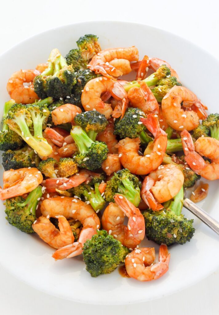 20-Minute Spicy Sriracha Shrimp and Broccoli