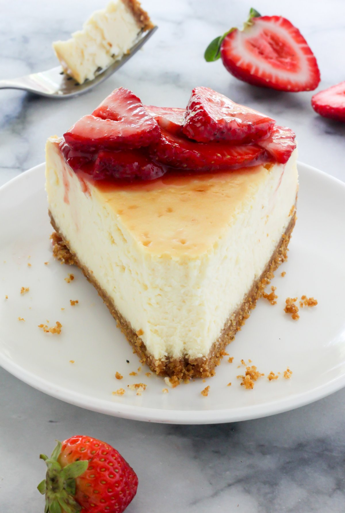 Rich and creamy, this classic New York-Style Cheesecake gets gussied ...