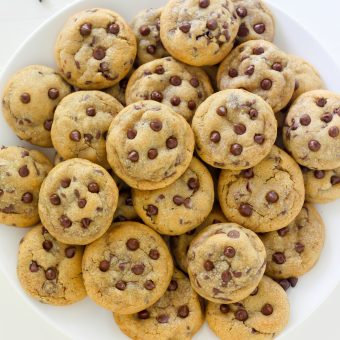 Bite-Sized Brown Butter Chocolate Chip Cookies