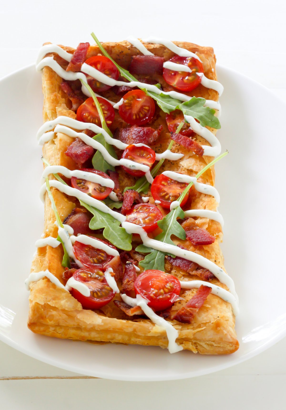 20-Minute BLT Puffed Pastry Pizza