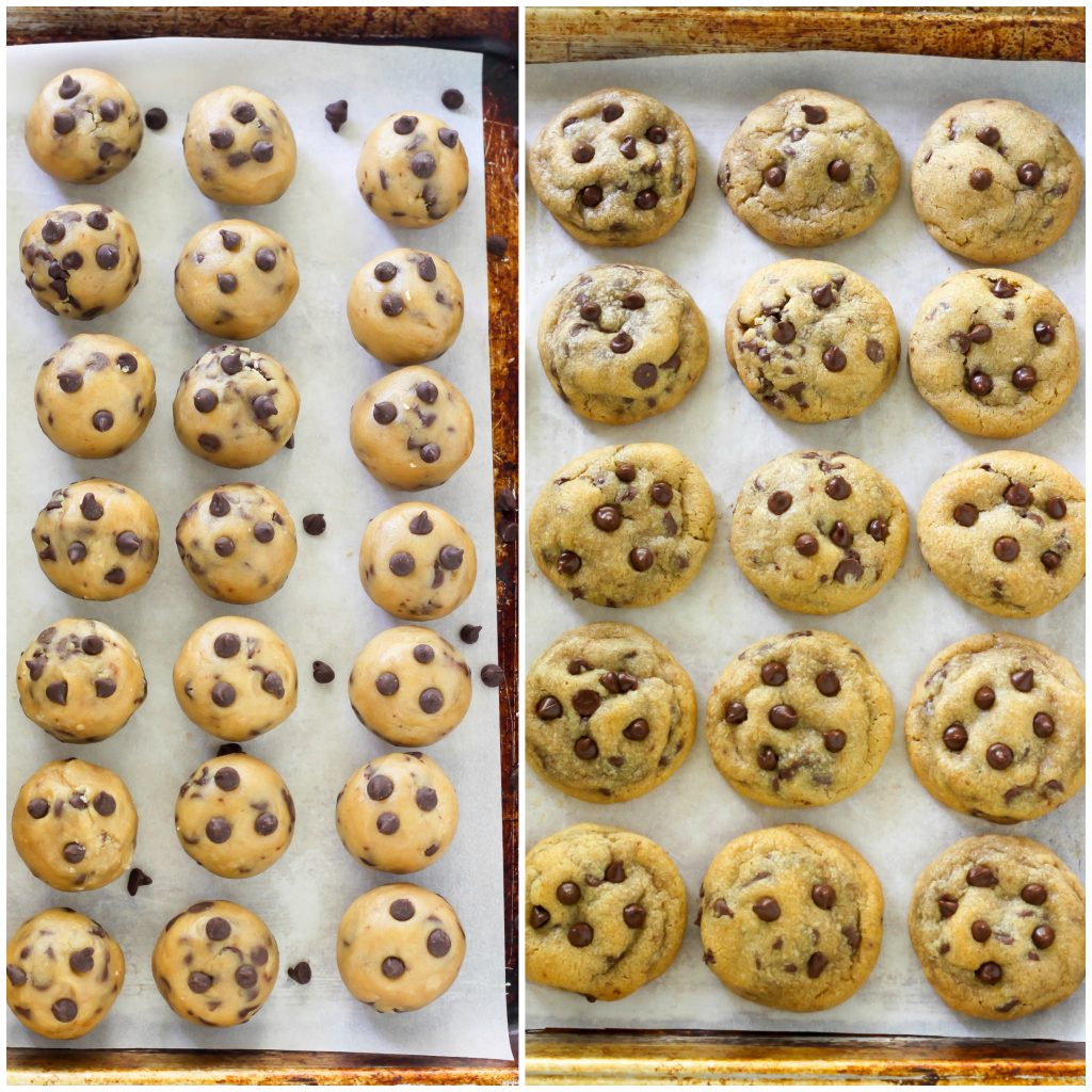 Bite-Sized Brown Butter Chocolate Chip Cookies - Baker by Nature