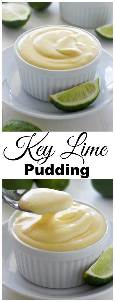 Creamy Key Lime Pudding - Cold, Creamy, and SO delicious.