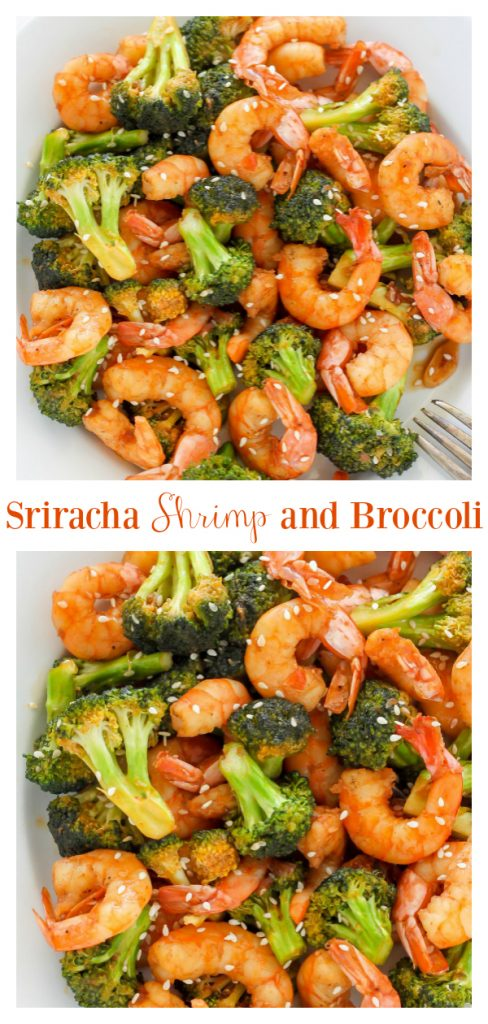 This 20-Minute Skinny Sriracha Shrimp and Broccoli is exploding with flavor! This healthy meal is ready to eat in just 20 minutes and is always a hit with my family. Skip the takeout and make this easy shrimp and broccoli stir fry instead.