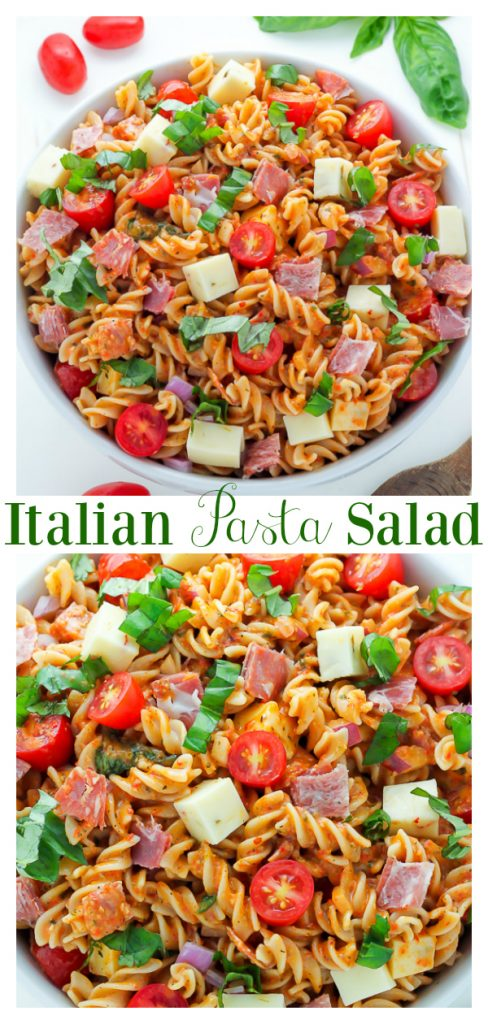 Quick, easy, and loaded with flavor, this 15-Minute Italian Pasta Salad is perfect for Summer parties and barbecues!