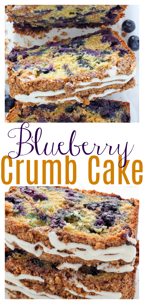 The only thing better than crumb cake is Blueberry RICOTTA Crumb Cake! Super moist, loaded with juicy blueberries, and topped with buttery crumbs and a sweet glaze, this truly is the full package! Perfect for breakfast, dessert, or as an afternoon snack!