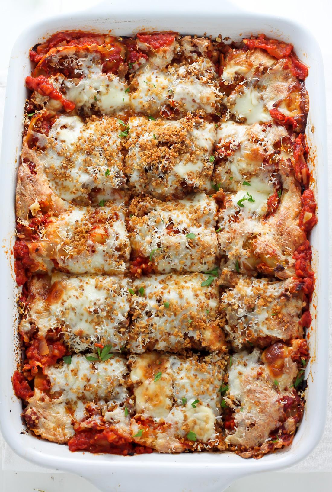 Lightened Up Chicken Parmesan Lasagna