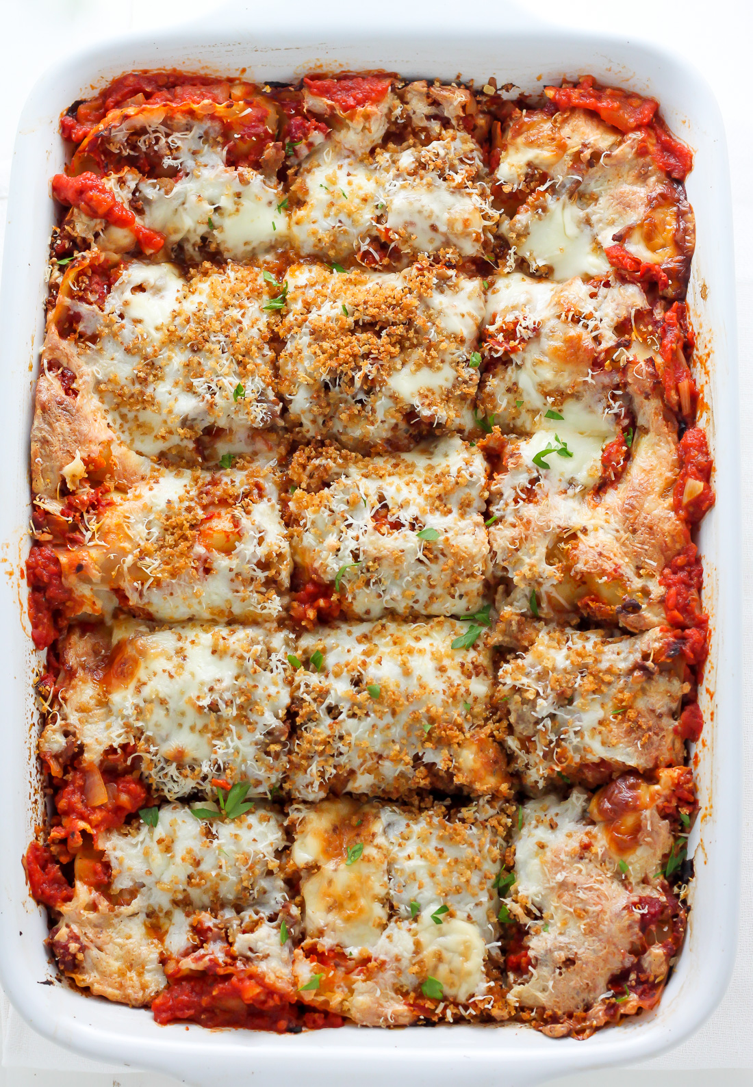 Lightened Up Chicken Parmesan Lasagna Baker By Nature