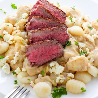 Steak and Blue Cheese Alfredo Gnocchi