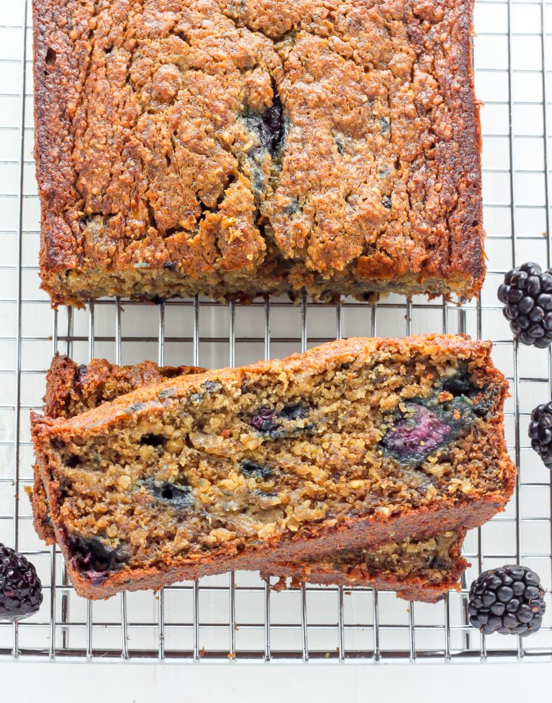 Healthy Blackberry Banana Bread
