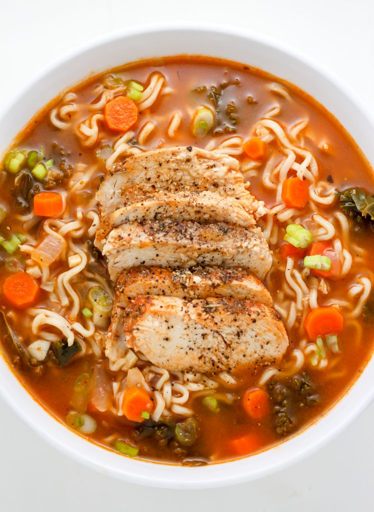 Sunday Suppers: Blackened Chicken Ramen Noodle Soup ...