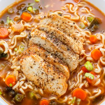 Sunday Suppers: Blackened Chicken Ramen Noodle Soup