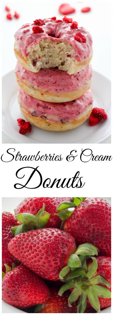 Strawberries and Cream Donuts