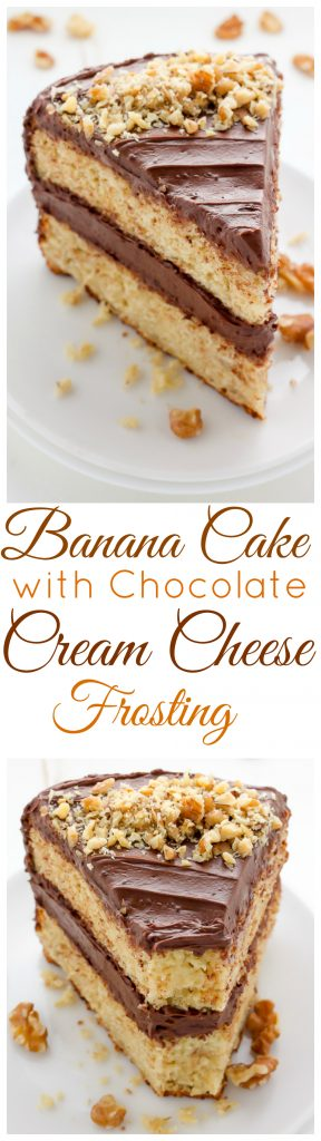 Old Fashioned Chocolate Chips Banana Cake