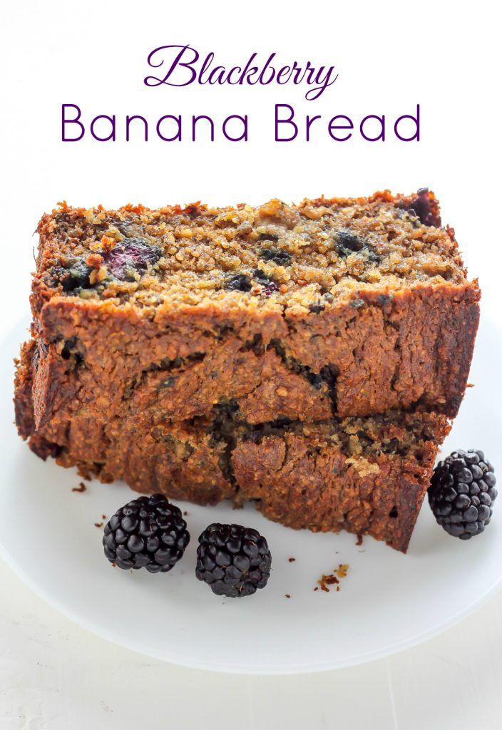 Healthy Blackberry Banana Bread