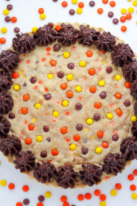 Reese's Pieces Peanut Butter Cookie Cake