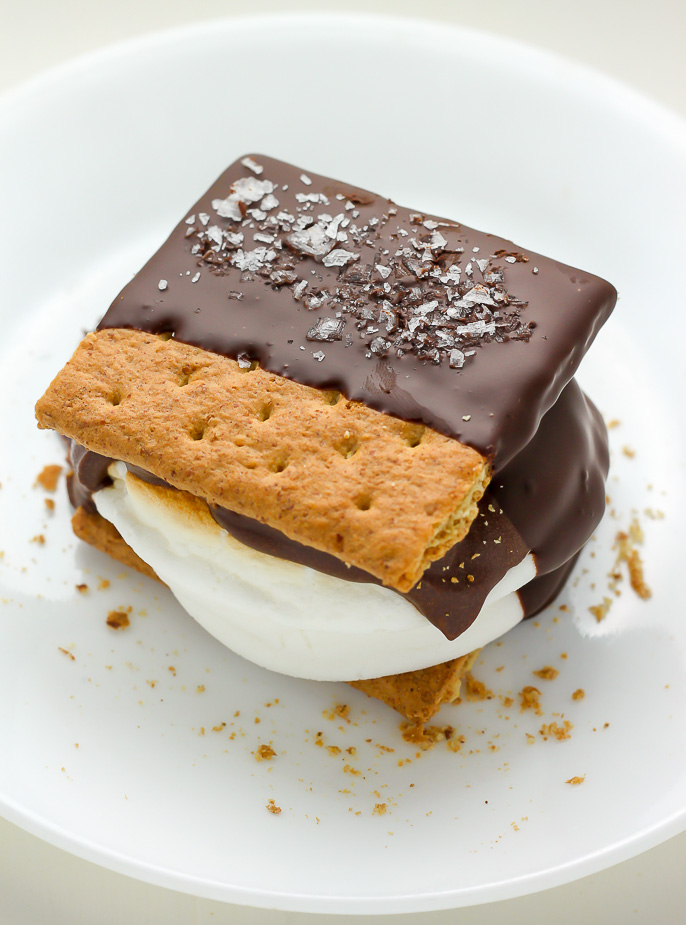 Chocolate Covered S'mores - Baker by Nature