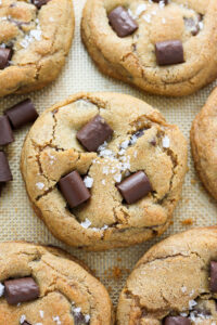 Greek Yogurt Chocolate Chunk Cookies - Unbelievably thick, chewy, and flavorful! Our new favorite.