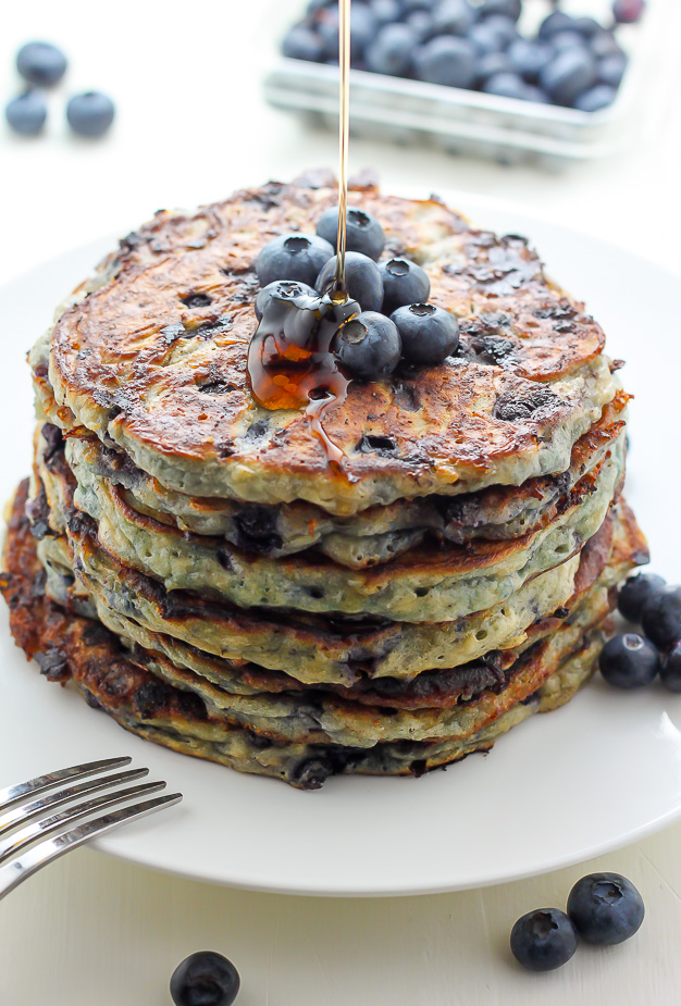 Awesome Blueberry Cottage Cheese Pancakes Interior Design Ideas Clesiryabchikinfo
