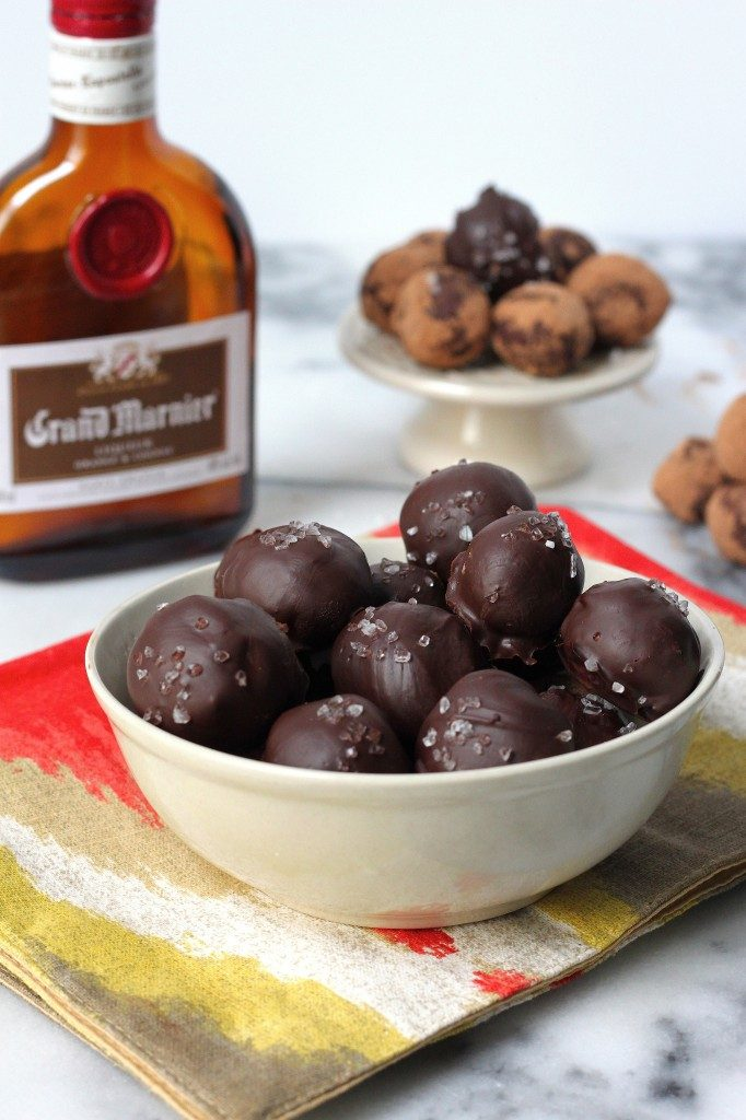 Grand Marnier Truffles in candy bowl.
