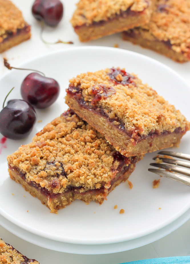 chocolate cherry crumb bars almond streusel cherry cheesecake bars ...