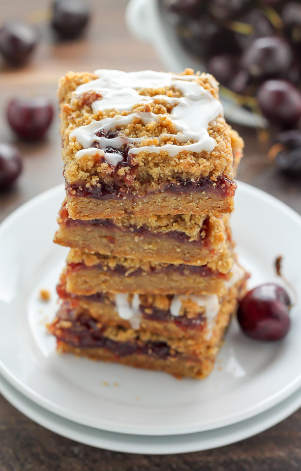 Sweet and fruity Brown Butter Cherry Crumb Bars made with just 7 ...