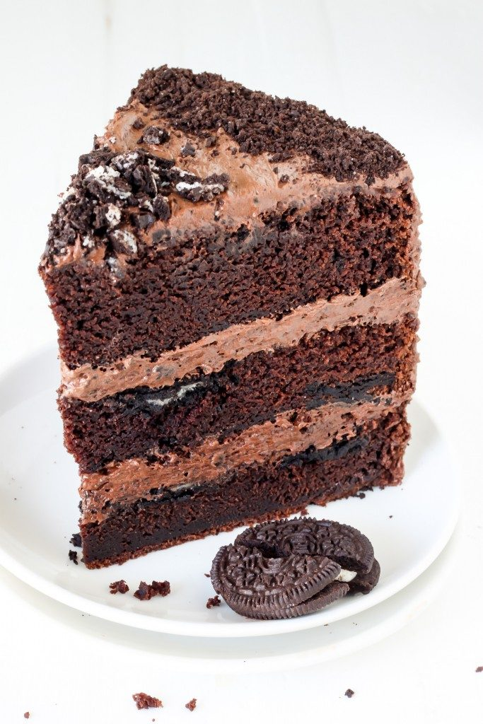 Triple Chocolate Oreo Layer Cake