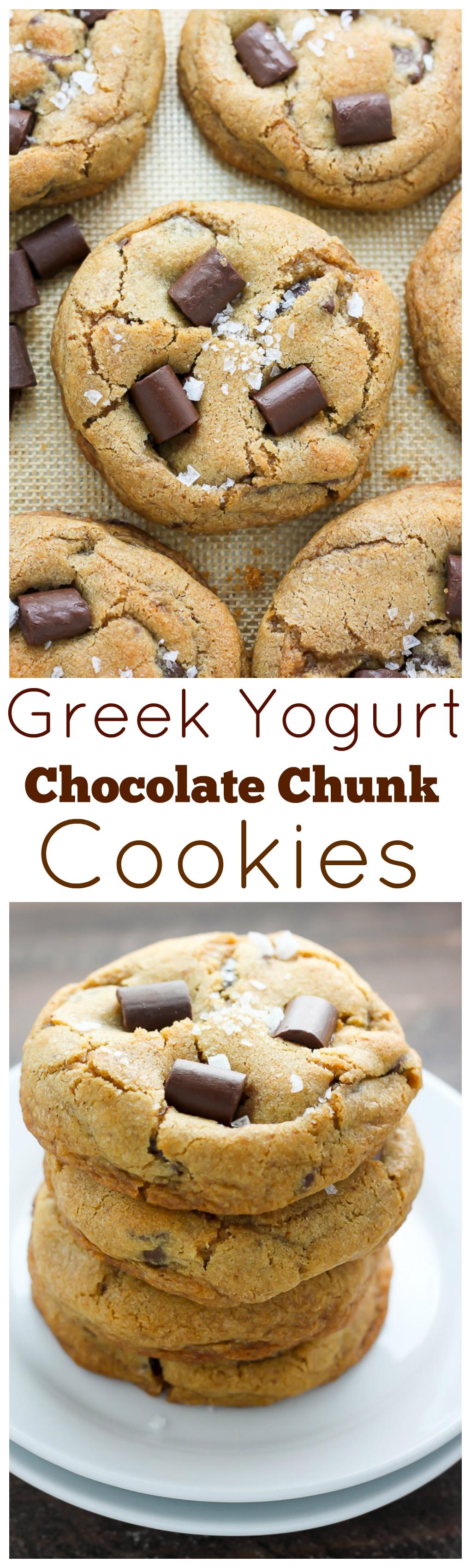 Greek Yogurt Chocolate Chunk Cookies - Baker by Nature