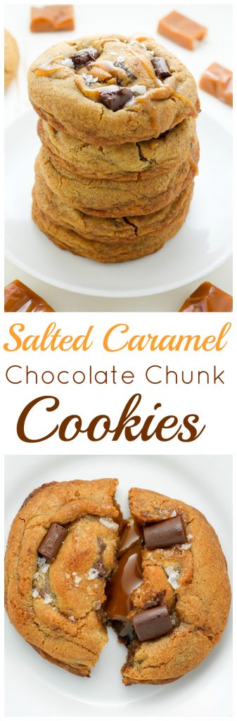 Salted Caramel Stuffed Chocolate Chunk Cookies - treat yourself to ...