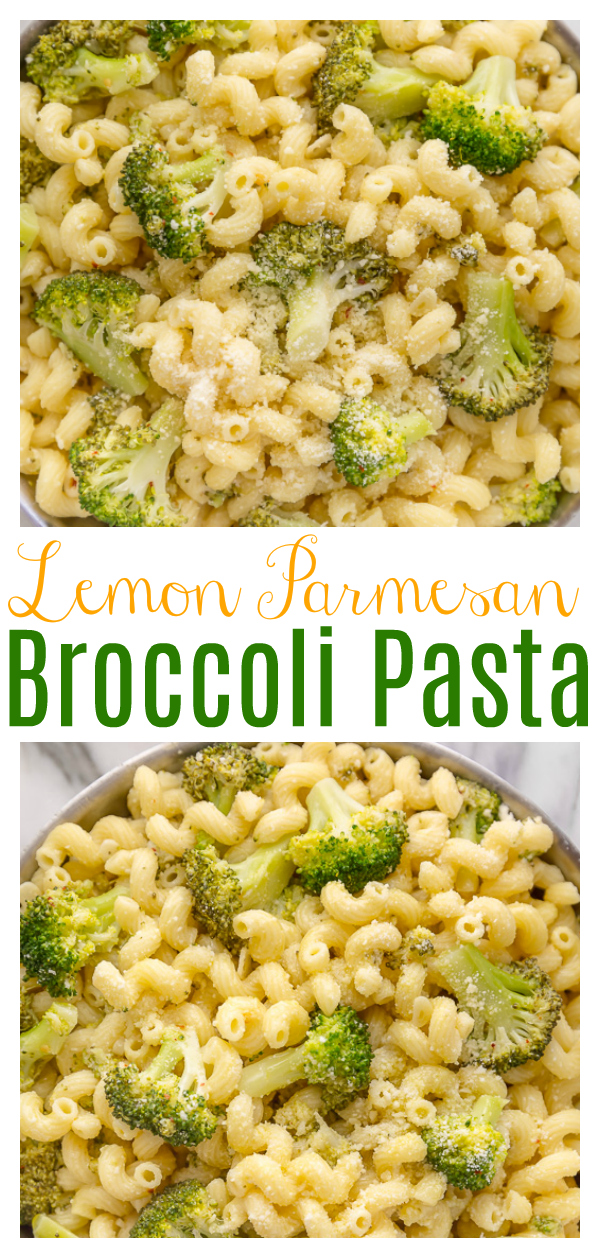This Easy Pasta with Broccoli Recipe is quick, easy, and so flavorful! One of my favorite pasta recipes to make for a crowd. Loved by vegetarians and carnivores!