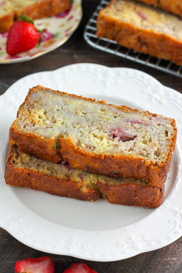 , savor. We love to enjoy this ultra moist strawberry banana bread ...