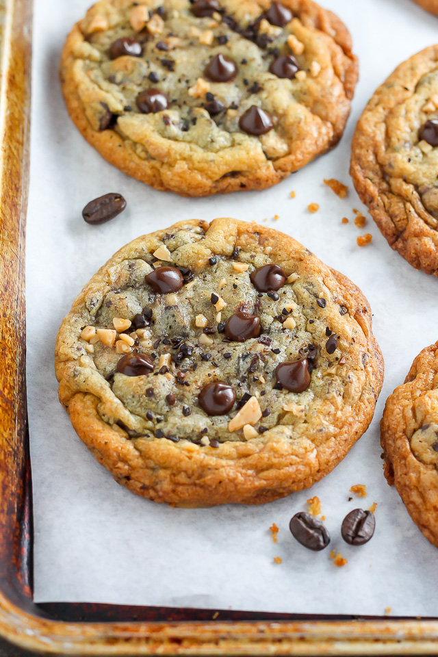 Espresso Toffee Chocolate Chip Cookies