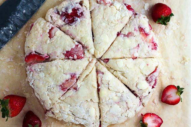 Strawberry Scone Dough