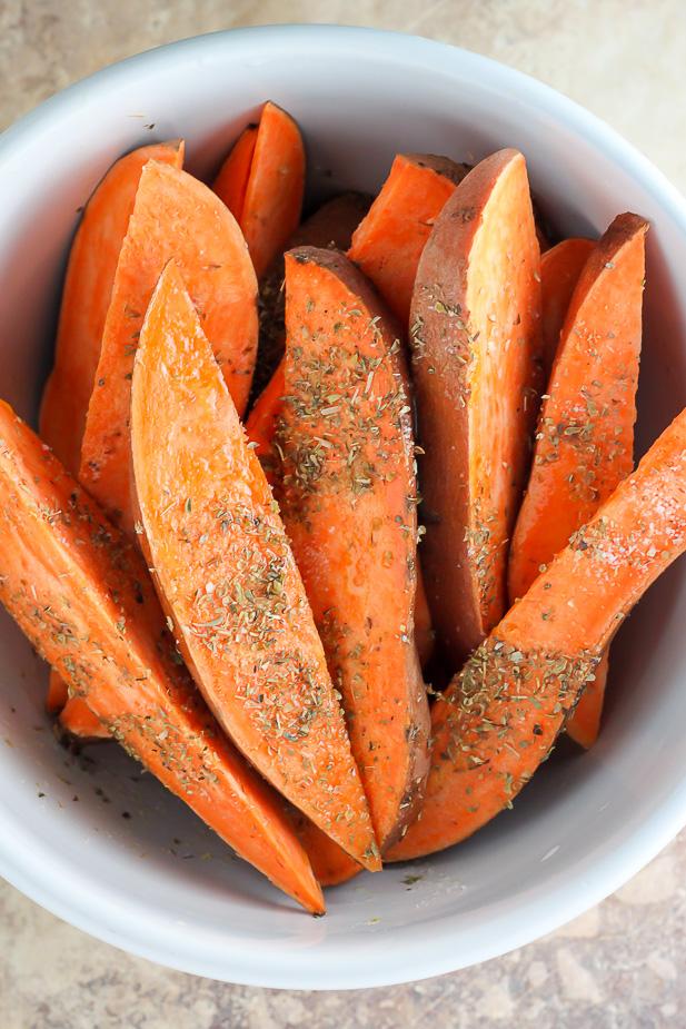 Extra Crispy Sweet Potato Wedges