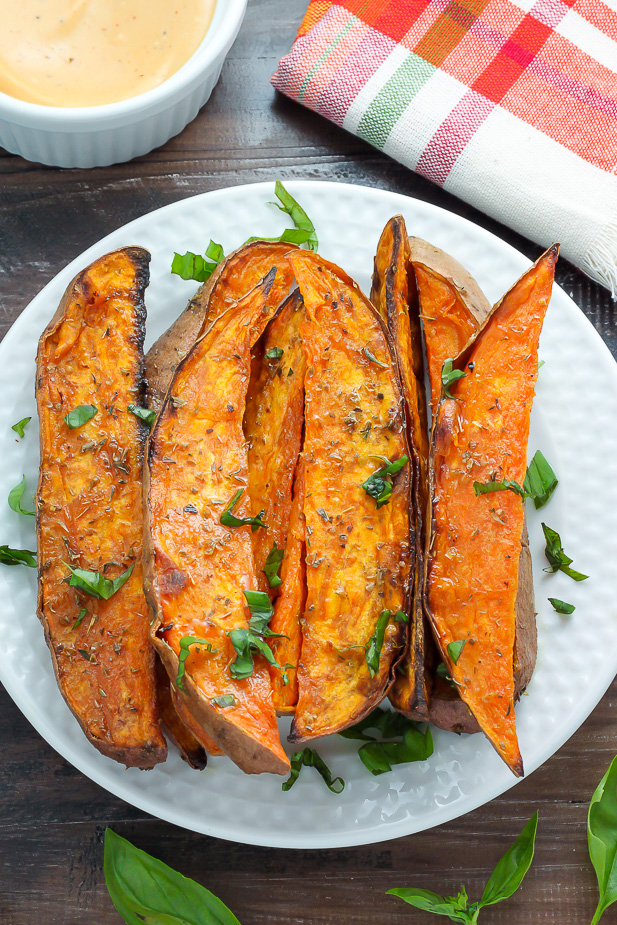 Extra Crispy Sweet Potato Wedges Baker By Nature