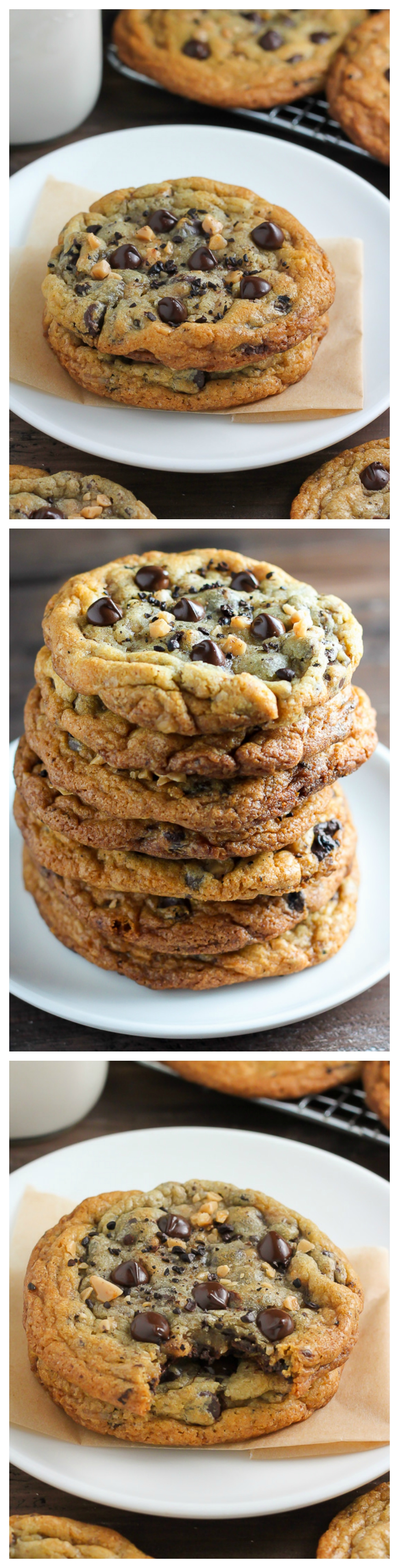 Espresso Toffee Chocolate Chip Cookies - Baker by Nature