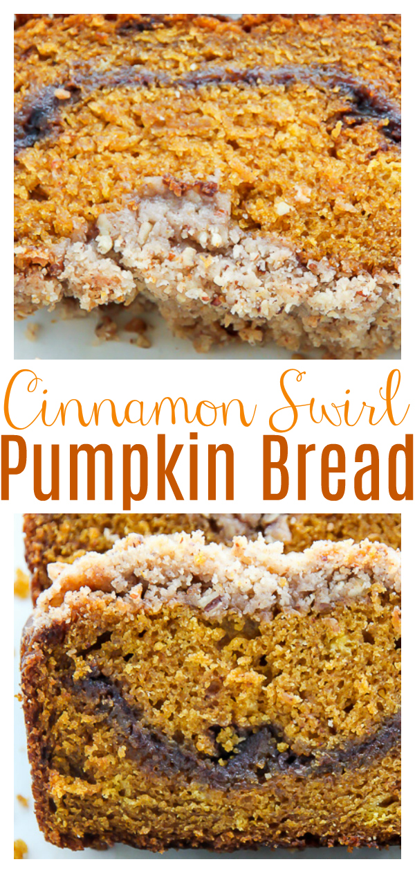 Crazy flavorful, supremely moist, and bursting with pure pumpkin flavor in every bite - this cinnamon swirl pumpkin bread is the real deal.