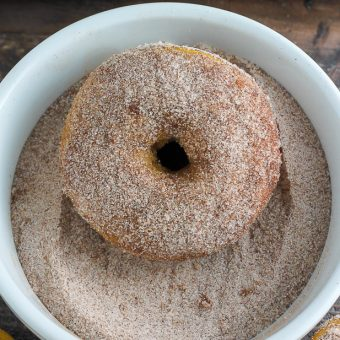 Pumpkin Cinnamon Sugar Donuts (Includes vegan version)