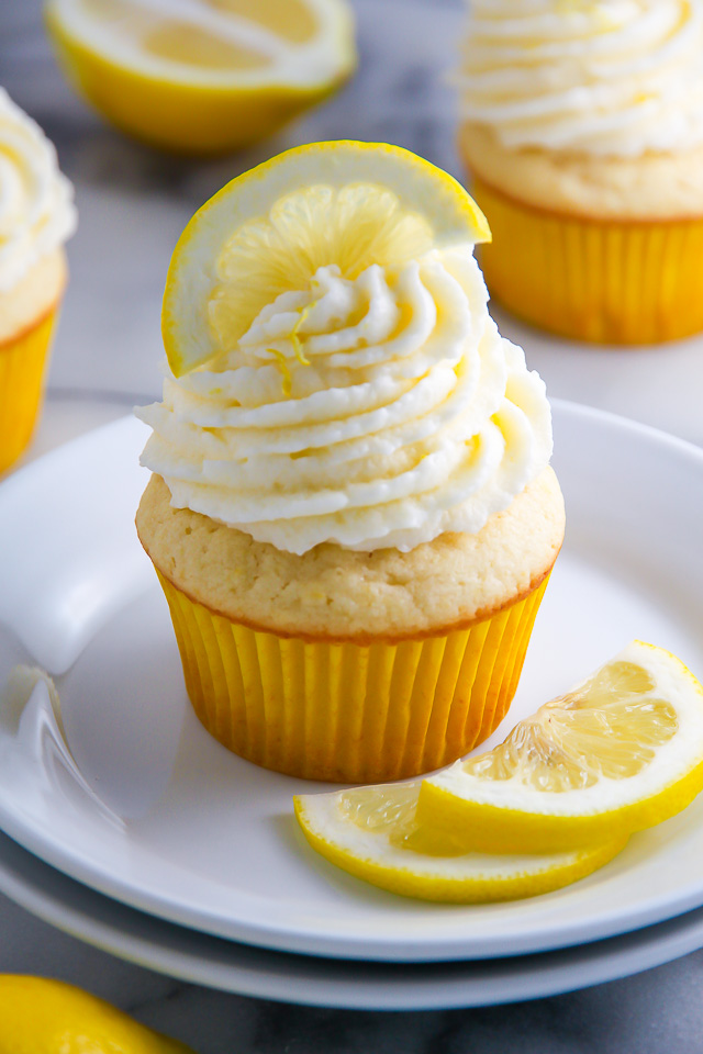 One-Bowl Lemon Ricotta Cupcakes
