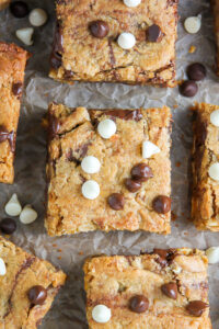Thick and Chewy Triple Chocolate Peanut Butter Blondies