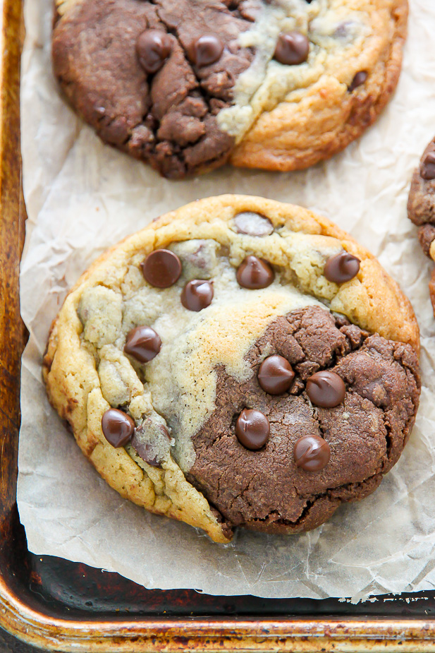 Chocolate Chip Brownie Swirl Cookies (aka Brookies)
