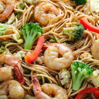 20-Minute Shrimp and Broccoli Lo Mein