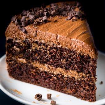 Chocolate Ricotta Layer Cake